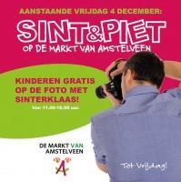 Kinderen gratis op de foto met Sinterklaas