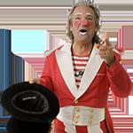 Clown Desalles aanstaande vrijdag op De Markt van Amstelveen
