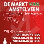 Extra markt op woensdag 23 en 30 december